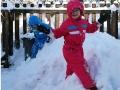Havasi nyulak ásni kezdenek a havasi nyúl nagyságú hóhegyekben